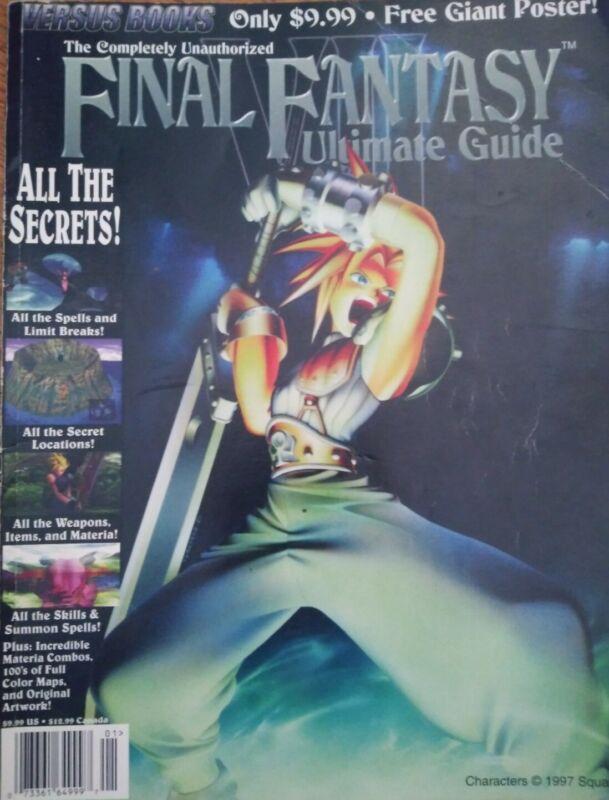 Final Fantasy VII 7 Ultimate Strategy Guide Versus ULTRA RARE