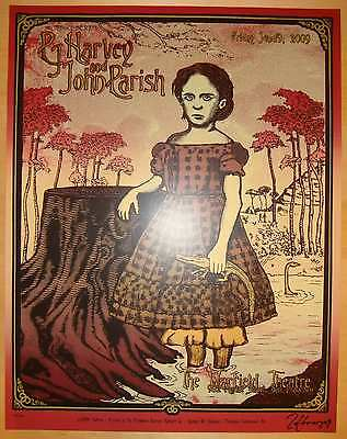 2009 PJ Harvey - Silkscreen Concert Poster by Zoltron