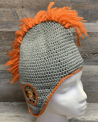 Shock Top Belgian White Gray Knitted Stocking Gat With Orange Mohawk