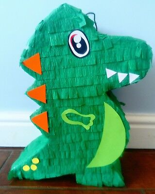 Dinosaur piñata birthday party   girl boy  pop smash game fun T-Rex
