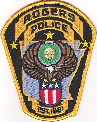 Rogers Police Patch Arkansas AR NEW!!