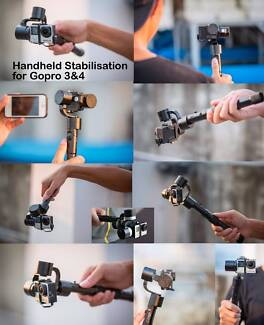 Three axis handheld electronic Video Stabilisation for Gopro 3&4