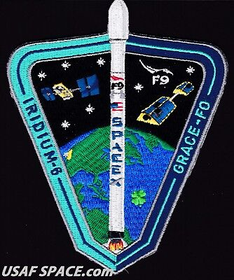 New Iridium 6   Spacex Original Falcon 9 F 9 Vafb Launch Satellite Mission Patch