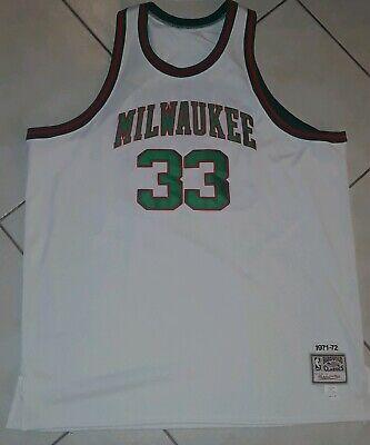 Mitchell & Ness NBA Milwaukee Bucks Kareem Abdul Jabbar 33 Jersey Mens 60 4XL