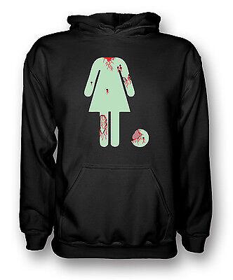 Ladies Zombie WC Toilet Sign - Funny  - Mens Hoodie