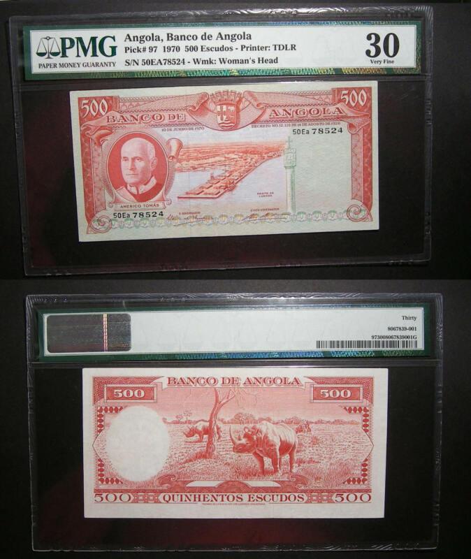 1970 ANGOLA 500 ESCUDOS P97 PMG 30 INV#PM104-28