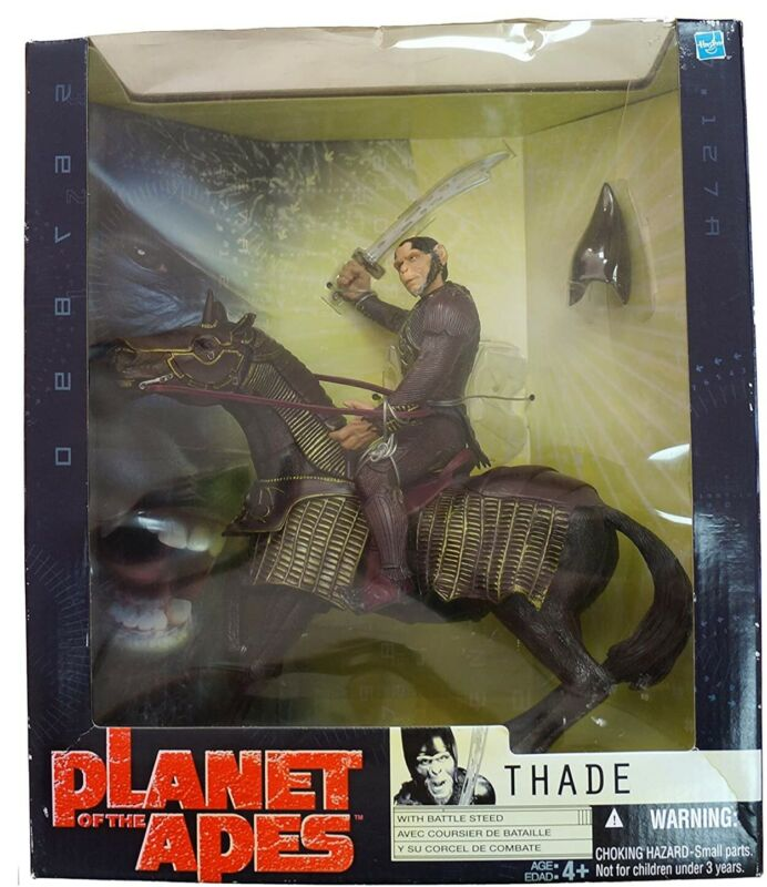 Planet of the Apes THADE with Battle Steed Action Figure 2001 Hasbro - Vintage