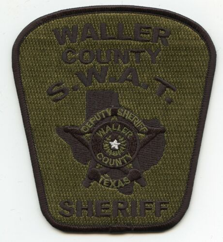 WALLER COUNTY TEXAS TX Special Weapons And Tactics SWAT SHERIFF POLICE PATCH