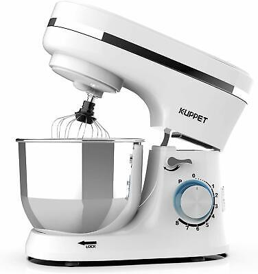 Electric Tilt-Head Countertop Food Stand Mixer 8 Speeds 4.7QT Home Kitchen White
