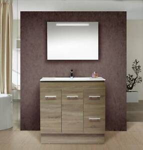 NEW ARRIVAL!!! Grey Oak vanity - BG90cm wide