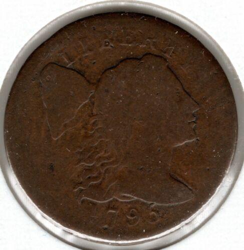 1795 Liberty Cap Large Cent (Plain Edge) - VG