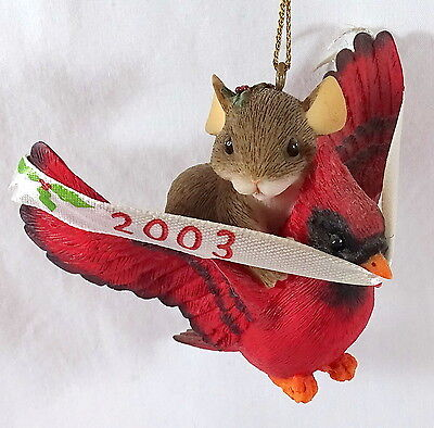 Charming Tails Ornament The Year is Flying 2003 Cardinal