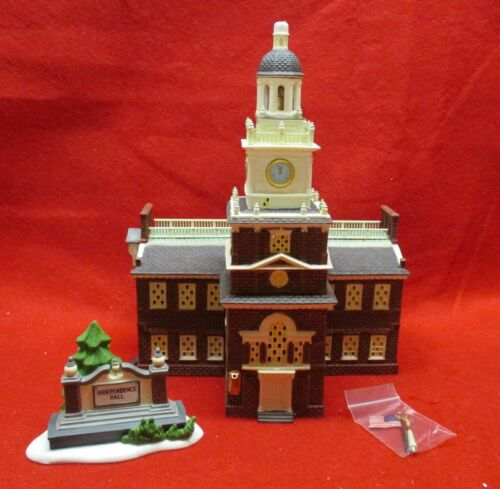 INDEPENDENCE HALL (set of 2) - Historical Landmark Series - Dept 56 - 55500