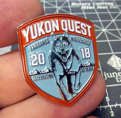 2018 Yukon Quest Lapel Pin Dog Sled Race Whitehorse Yukon to Fairbanks Alaska