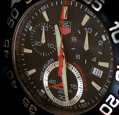 TAG HEUER MEN'S F1 FORMULA GRANDE WATCH 200 METER DIVING CHRONOGRAPH CAH1110