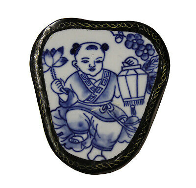Chinese Old Blue and White Baby Porcelain Art Jewelry Storage Box n163 Baby Storage Jewelry Boxes