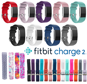 Fitbit-Charge-2-Replacement-Band-Secure-Strap-UK-Wristband-Metal-Buckle-HR