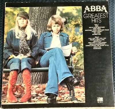 ABBA - Greatest Hits LP w/ SOS Mamma Mia WATERLOO I Do I Do I Do I Do FERNANDO