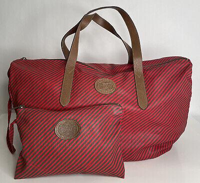 GUCCI Vtg Striped Accessory Collection Bag