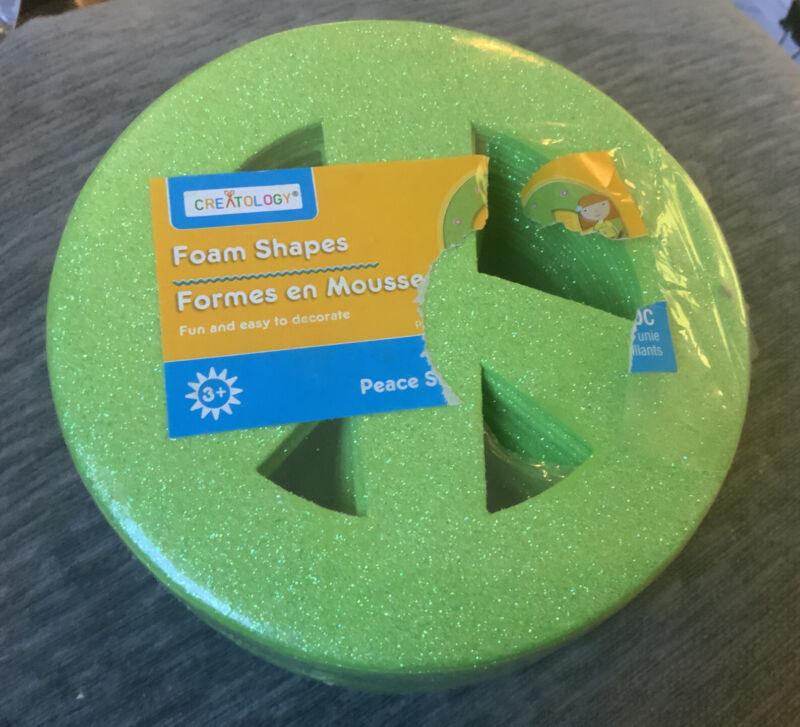 Creatology Foam Shapes 36 Green Peace Signs - New!