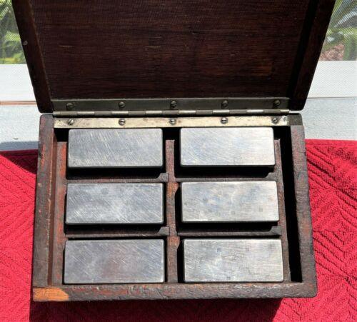 VINTAGE 1-2-3 TOOLMAKER BLOCKS IN WOODEN BOX