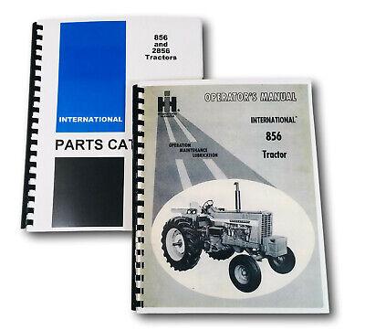 Set International Farmall 856 Tractor Owner Operator Parts Manuals Catalog