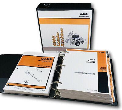 Case 680g Loader Backhoe Tractor Service Manual Parts Catalog Shop Overhaul Set