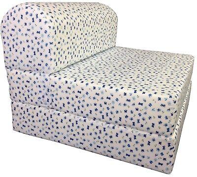 Butterflies Sleeper Chair Folding Foam Bed, Studio Sofa Bed, Couch 6x32x70