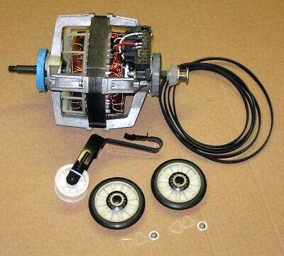 COMBO4 Dryer Motor 279827 Belt Idler Rollers 4392065 for Whirlpool Kenmore Roper