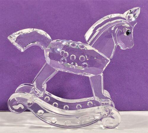 Swarovski Silver Crystal 1994 Rocking Horse 7479 001 183270 Retired