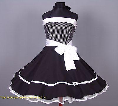 Kleid 50er Jahre Petticoat Abiball, Abend,Konformation Gr.38-42 Schwarz/weiß