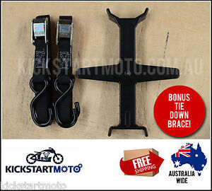 Motorbike Motorcycle Dirt Bike Tiedowns Tie downs with FREE Tie Down Brace