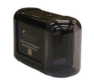 Black High Quality Desktop Pencil Sharpener Electric Battery Operated  - V-3-BK