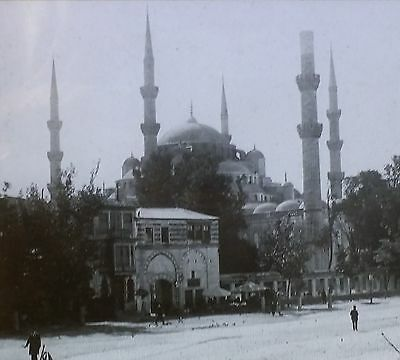 (Sultan Ahmed Mosque, Constantinople (Istanbul, Turkey) Magic Lantern Glass Slide)