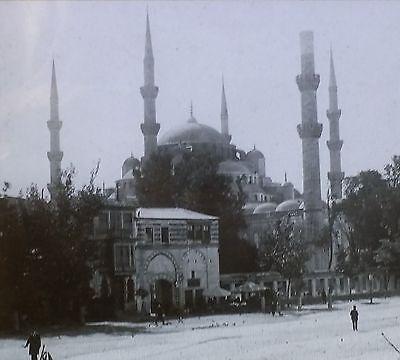 (Sultan Ahmed Mosque, Constantinople (Istanbul, Turkey) Magic Lantern Glass Slide)