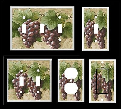 GRAPES AND VINE #5  LIGHT SWITCH COVER PLATE KITCHEN HOME DECOR](Plate And Vine)
