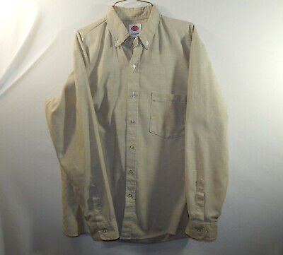 Dickies Long Sleeve Oxfords - Dickies Mens Long Sleeve Casual Oxford Dress Shirt Regular Fit Size 15 - 15.5