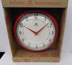 INFINITY 8.5  RED WALL CLOCK  MODEL 10940-RED