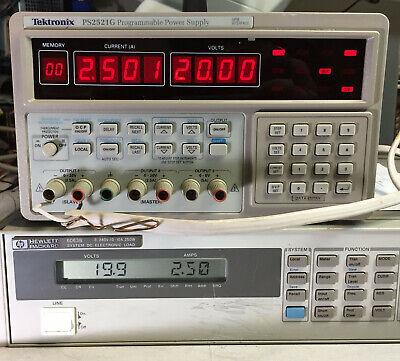 Tektronix Ps2521g Variable Dc Power Supply Dual 0-20v 0-2.5a 6v - Load Tested