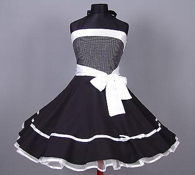 50er Jahre Petticoat Abiball, Abend,Konformation Kleid Gr.38 - 42 Schwarz/weiß
