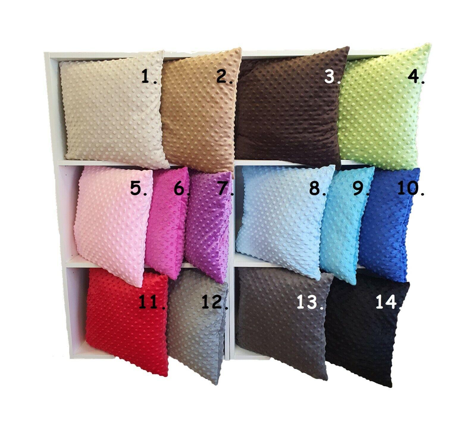 TOP Kissenbezug Minky 40x40 14 Farben Kissenhülle Dekokissen Zierkissen 10 Maße