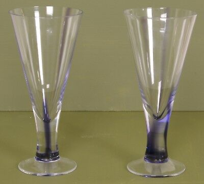 Purple Wine Glasses Bulk (Pair of Dartington Crystal INDIGO Wine Glasses Flute 8″ Tall Purple Glass)