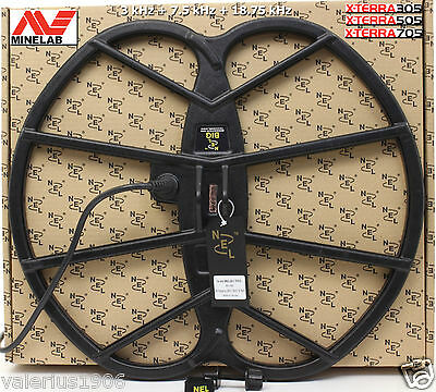 "New NEL BIG 15""x17"" DD coil for Minelab X-Terra 3-in-1 freq 3kHz 7.5kHz 18.75kHz"