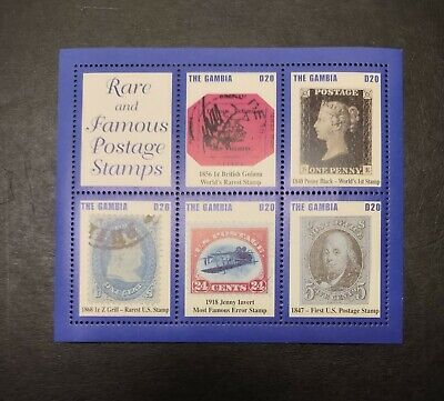 GAMBIA STAMPS • MINT SOUVENIR SHEET • RARE STAMPS • 99¢ LOW START