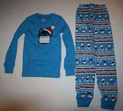 Neu Gymboree Junge Schlafanzüge Gymmies Pyjama 6 7 8 10 12 Jahr Holiday Pinguin ()