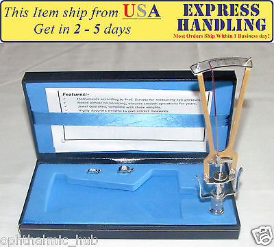 Riester Schiotz Tonometer For Optometry In Blue Case User Manual Free Shipping