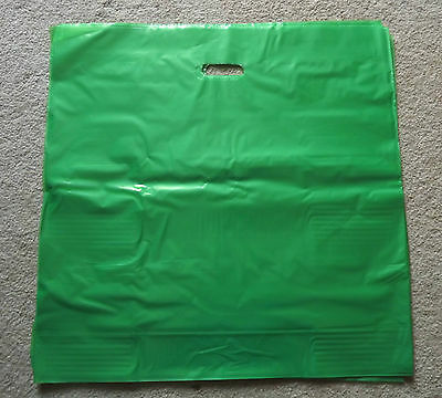 Glossy Jumbo Lime Green Shopping Merchandise Bags 20x20x5 Lot 25