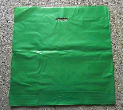 Glossy Jumbo Lime Green Shopping Merchandise Bags 20x20x5 Lot 25