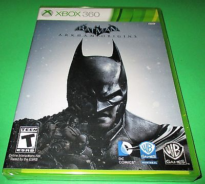 Batman: Arkham Origins Microsoft Xbox 360 *Factory Sealed! *Free Shipping!, used for sale  Shipping to South Africa