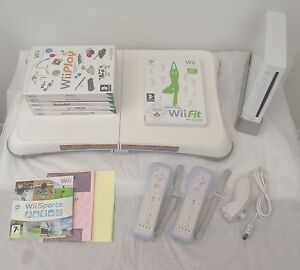 Wii-CONSOLE-Wii-FIT-65-GAMES-INCLUDING-A-FREE-YEARS-WARRANTY
